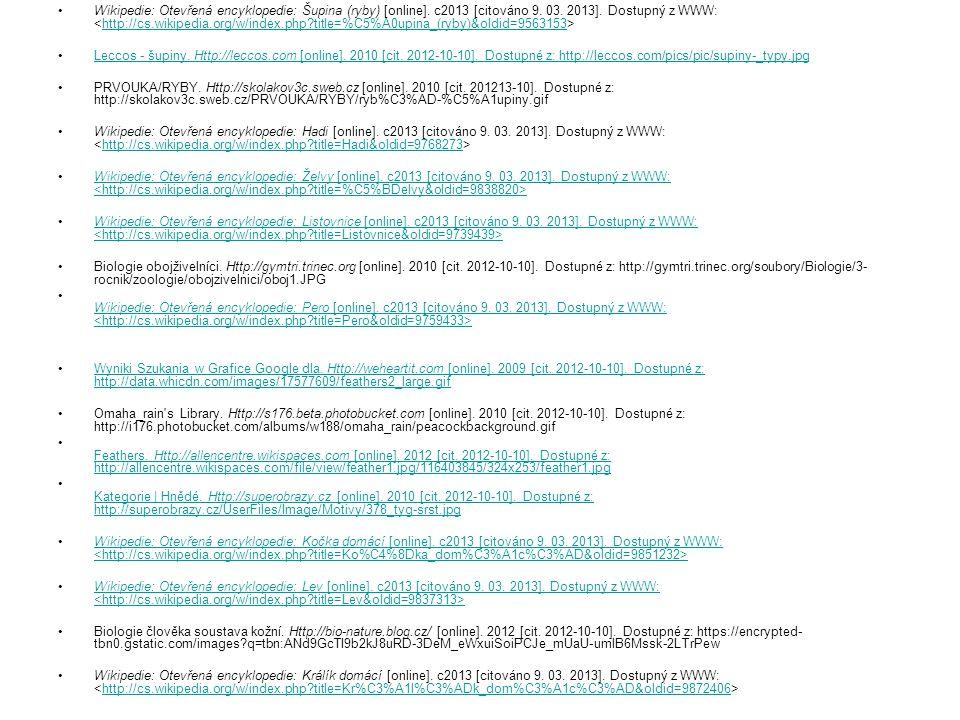 Wikipedie: Otevřená encyklopedie: Šupina (ryby) [online]